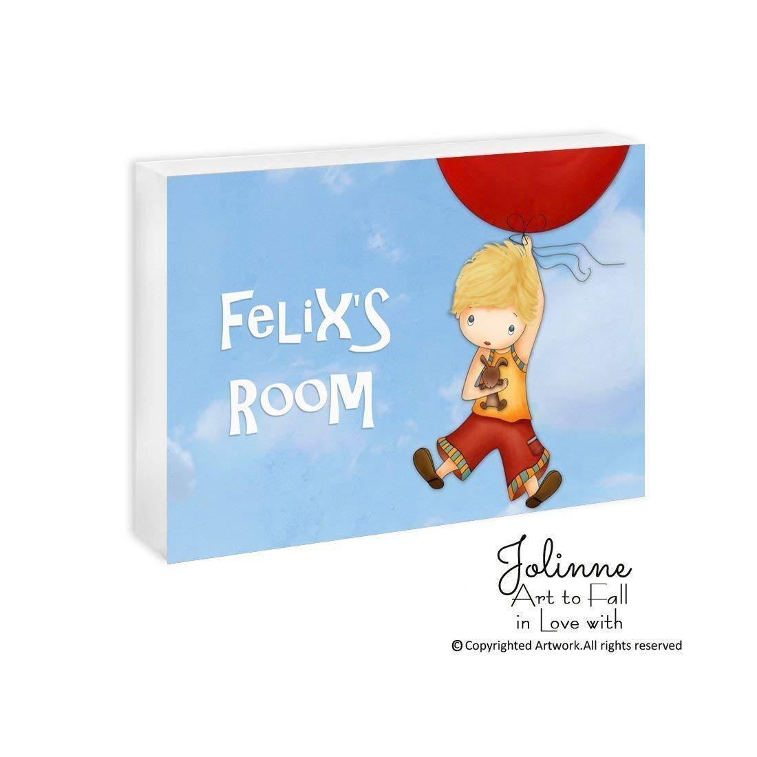 Boys Room Decor Personalized Nursery Wall Art Kids Name Plaque Childrens Artwork