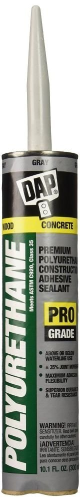 Dap 18814 18 Pack 10.1 oz. Premium Polyurethane Construction Adhesive Sealant, Gray
