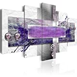 Konda Art Purple Painting Wall Art Modern Abstract Canvas HD Print Picture Home Decor 5 panels large Hanging Artwork for Living Room Stretched and Ready to Hang(W60 x H30, Restless mind)
