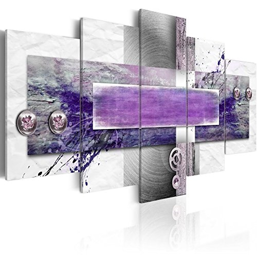Konda Art Purple Painting Wall Art Modern Abstract Canvas HD Print Picture Home Decor 5 panels large Hanging Artwork for Living Room Stretched and Ready to Hang(W60 x H30, Restless mind) by Konda Art