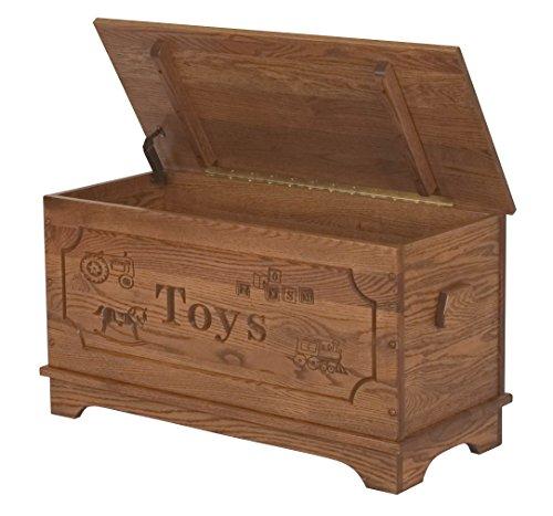 Conrad Grebel Amish Heirlooms Solid Oak Toy Box With Carv.