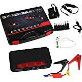 LOVSHARE Emergency Power Supply 12V 21000 mAh Vehicle Portable Jump Starter and Battery Charger Power Pack 750A Power Inverter with LCD Display Portable Emergency Auto Jump Pack for Cars Trucks SUVs