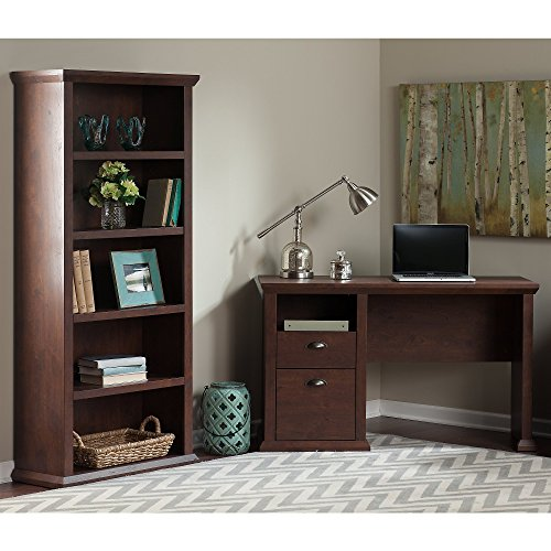 Yorktown Home Office Desk and Bookcase by Bush Furniture
