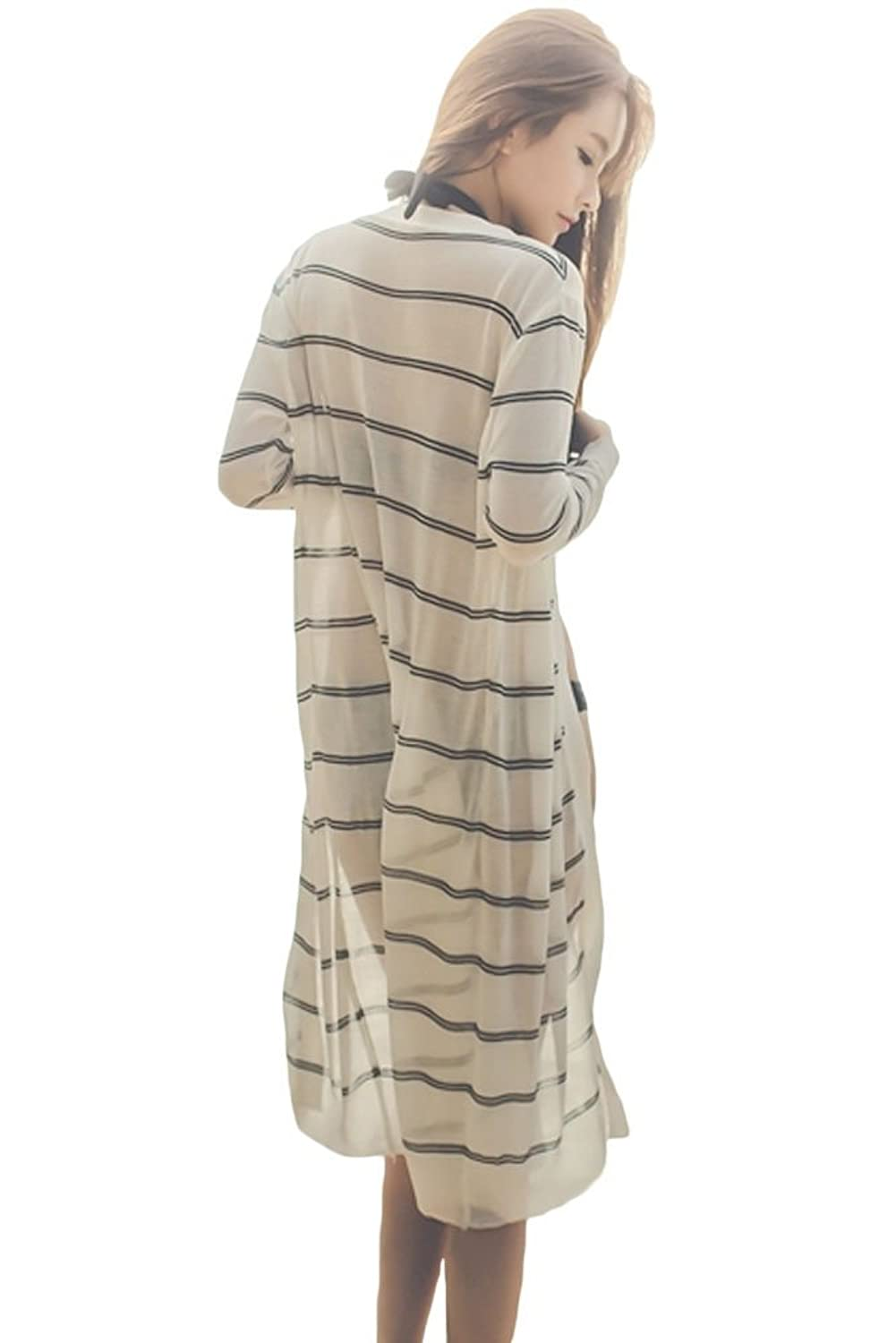 NICE BUY Damen Strandkleid Lose Cardigan Badeanzug Cover Up lang