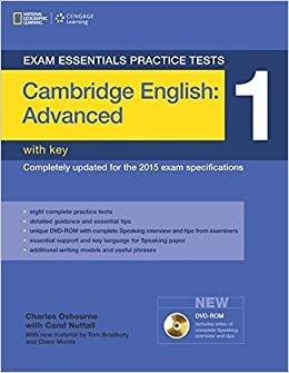 Exam Essentials: Cambridge Advanced Practice Tests 1 W/key + Dvd-rom por Tom Bradbury