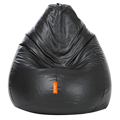ORKA Classic XXL Bean Bag Cover Without Beans   Black