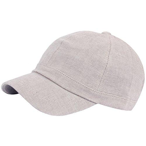 RaOn B382 Ball Cap Plain Empty Summer Cool Short Bill Design Baseball Hat Truckers (Beige)