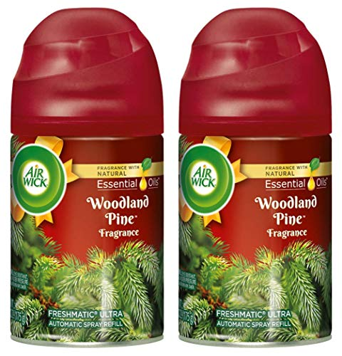 Air Wick Freshmatic Ultra Automatic Spray Refill - Spread The Joy - Winter Collection 2017 - Woodland Pine - Net Wt. 6.17 OZ (175 g) Per Refill Can - Pack of 2 Refill Cans
