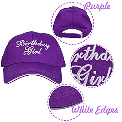 Birthday Girl, Birthday Girl hat Caps and Sash, Birthday Party Supplies and Decorations for Girls 16th,18th, 21st, 25th, 30th, 35th, 40th, 45th, 50th, 55th, 60th, 65th, 70th, 75th, 80th, 85th, 90th: Clothing