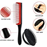4 Pieces 9-Row Cushion Nylon Bristle Shampoo