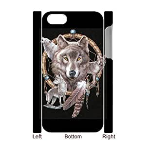 ALICASE Diy 3D Protection Hard Case Wolf Dream Catcher For Iphone 5C [Pattern-1]