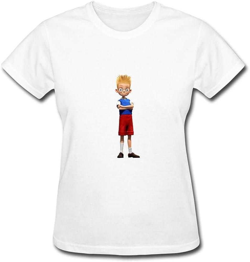 ZHENGXING - Camiseta de Manga Corta para Mujer, diseño de Lewis Meet The Robinsons: Amazon.es: Libros