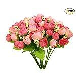 CATTREE-Artificial-Rose-Flowers-Plastic-Silk-Finger-Rose-Fake-Plants-Wedding-Bridal-Bouquet-Party-Indoor-Outdoor-DIY-Home-Garden-Verandah-Office-Table-Centerpieces-Arrangements-Decoration-4pcs
