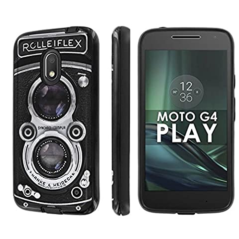 Motorola Moto G Play [4th Gen] Phone Case [NakedShield] [Black/Black] Dual Armor ShockProof Case - [RolleiFlex] for Moto [G4 (Motorola G Glass Covers)
