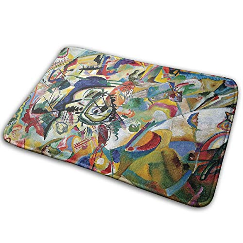 Laoyaotequ Famous Abstract Fine Art Painting of Composition VII by Wassily Kandinsky Funny Bath Mat Rugs,Non-Slip Front Door Mat,Kitchen ()