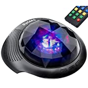 Sycees Night Light Projector & Bluetooth Sound Machine with Remote, Timer, Dimmer, Black