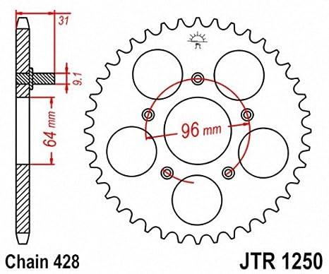 JT Sprockets JTR1250.48 48T Steel Rear Sprocket