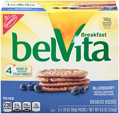 Price comparison product image Belvita Breakfast Biscuit, Blueberry, 8.8 Ounce (Pack of 3)