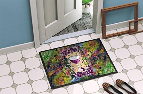 Caroline s Treasures 8616JMAT Wine Indoor or Outdoor Mat 24×36 Doormat, 24H X 36W, Multicolor