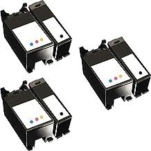 3 Set of 2 Inkfirst® Ink Cartridges Series 21 22 23 24 Y498D, Y499D Compatible Remanufactured for Dell Y498D Black, Y499D Color Dell V515 P513W V715W P713W V313 V313W