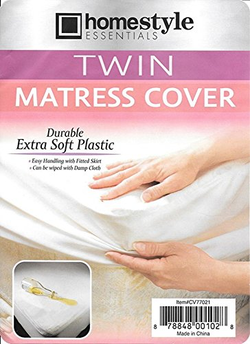 Mattress Protector -- Twin Size Waterproof Soft Plastic-Mattress Cover- Style-001 - Twin Size
