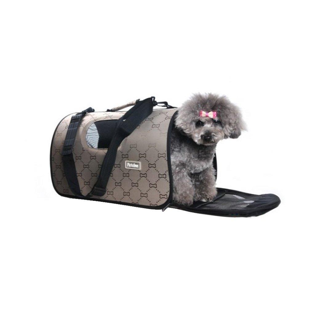 XSJ-Zaini Borsa per Animali Domestici Borsa Borsa Borsa A Tracolla per Animali Domestici Marronee Borsa A Tracolla per Animali Domestici Portatile Pieghevole (Dimensioni   S.) 59d4b8