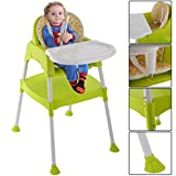 Highchair 3 In 1 Baby Chair High Table Convertible Dining Seat Toddler Feeding