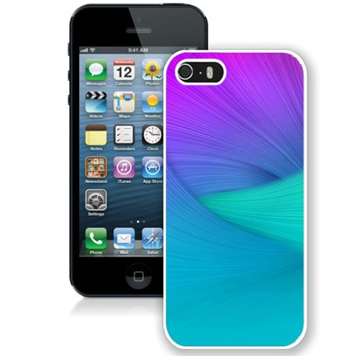 Coque,Fashion Coque iphone 5S Abstract Purple Waves Stock blanc Screen Cover Case Cover Fashion and Hot Sale Design