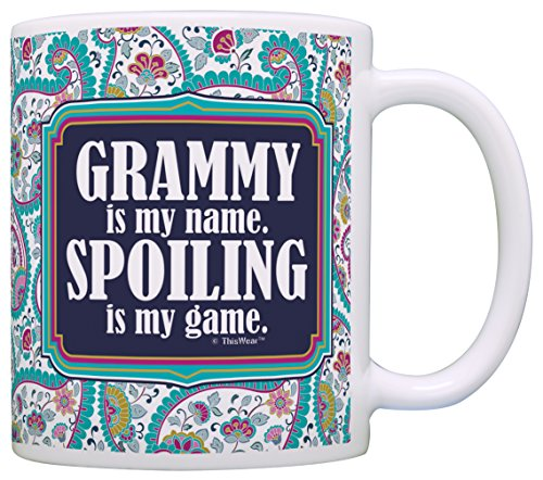 Grandma Grammy Spoiling Coffee Paisley