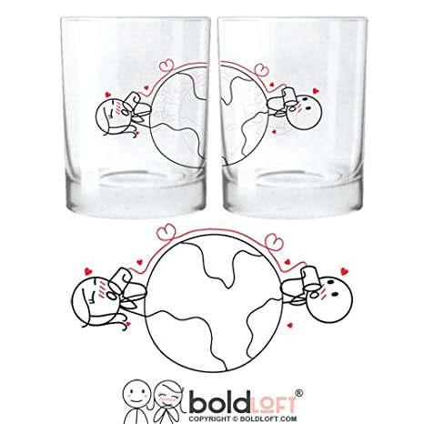 boldloft love has no distance his and hers glasses long distance relationships giftschristmas