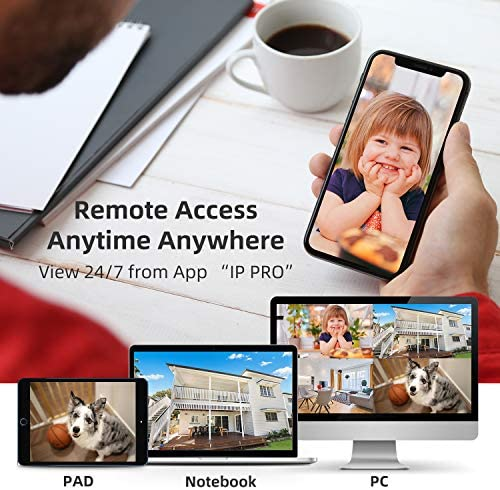 【1TB Hard Drive Pre-installed】SMONET 1080P Wireless Security Camera System,8-Channel Full HD Wireless Home Camera System, 4pcs 2.0MP Indoor Outdoor Surveillance Cameras,P2P,Super Night Vision,Free APP 516vDDo1L1L