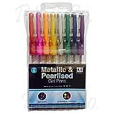 Pack of 8 Metallic Gel Pens