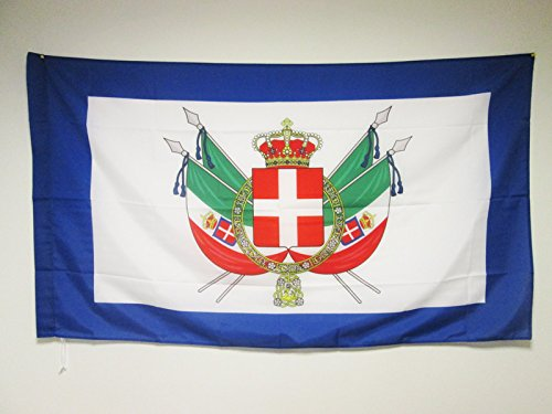 - AZ FLAG Coat of Arms Kingdom of Italy 1861-1870 Flag 3' x 5' for a Pole - Royal Italian Flags 90 x 150 cm - Banner 3x5 ft with Hole