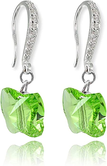 Princess Kylie Bezel Set Cubic Zirconia Hanging Designer Ring Rhodium Plated Sterling Silver