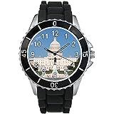 Capitol Hills Washington DC - Montre Unisex - Bracelet Silicone Noir