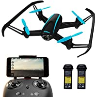 UDI U34W Dragonfly Wi-Fi FPV Camera Drone w/ 720p HD Drone Camera, Alt. Hold & Custom Route Mode; Easy-to-Fly Drone w/ First-Person View (Black)