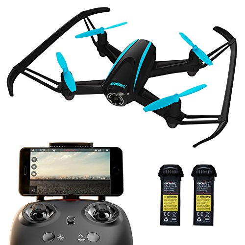 UDI U34W Dragonfly Wi-Fi FPV Drone with Camera Live Video, Alt. Hold & Custom Route Mode | Force1 Easy-to-Fly Drones with Camera + 1-Key Control for Kids & Pros