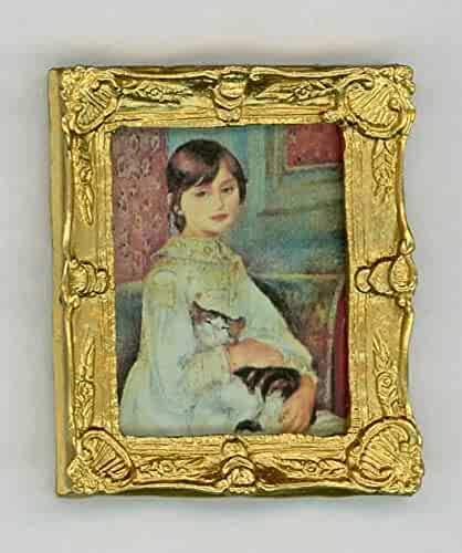 Melody Jane Dolls House Artist/'s Easel /& Canvas Painting Picture 1:12 Accessory