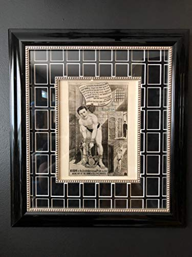 Original Houdini Vintage Water Torture Cell Photo Photograph Custom Framed, Magic, Magician, Amsterdam, Jail Escape