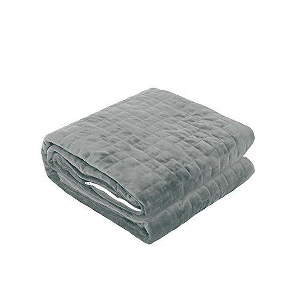 Viki Cotton Weighted Blanket (36''x 48'', 3lbs for 20-40lbs Individual, Dark Grey) for Kids, Children | Helps Reduce Stress and Anxiety, Great for ADHD, Autism, OCD, and Sensory Processing Disorder