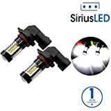 SiriusLED Extremely Bright 80W High Power Projector LED Bulbs for Fog Lights Daytime Running DRL Driving 9005 9145 H10 HB3 6000K Xenon White