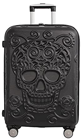 "IT Luggage Skulls 26"" Spinner Upright - Black"