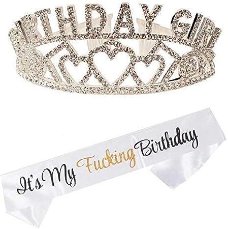 Amazon.com: Corona de cumpleaños, es mi cumpleaños blanco ...