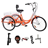 Best Adult Tricycles - MOPHOTO Adult Tricycle Trike Cruiser Bike Three-Wheeled Bicycle Review