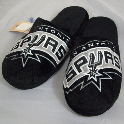 San Antonio Spurs NBA Big Logo Hard Sole Slide Slippers