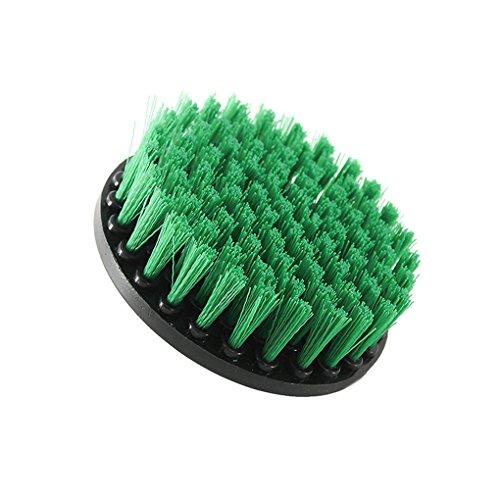 Yellow Green Drill Cleaning Brush Heavy Duty Cleaner Scrubber with Stiff Bristles for Carpet Car Mats Tile Stevlogs