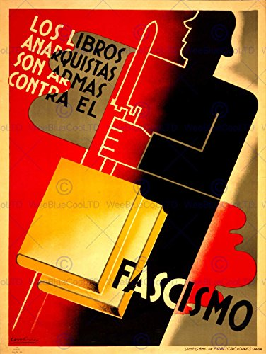 PROPAGANDA WAR SPANISH CIVIL BOOK READING ANTI FASCIST REPUBLICAN POSTER BB6937B (Propaganda War Posters Anti)