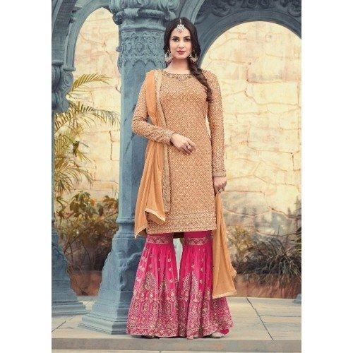 Garara per ragazza personalizzato Salwar matrimonio Nikah Wear Cerimonia 2782 Kaftan Hijab Gonna donne ETHNIC EMPORIUM della Party musulmano Suit collezione tradizionale misurare OEqPpWR