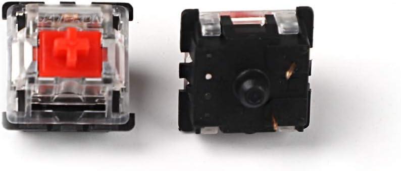 Gateron MX Interruptor 3 pines y 5 pines Carcasa Transparente Negro Rojo Verde Marrón Azul Claro Interruptores para Teclado Mecánico Compatible Cherry ...