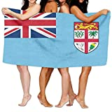 Beach Towel Flag Of Fiji 80'' X 130'' Soft Lightweight Absorbent For Bath Swimming Pool Yoga Pilates Picnic Blanket Towels